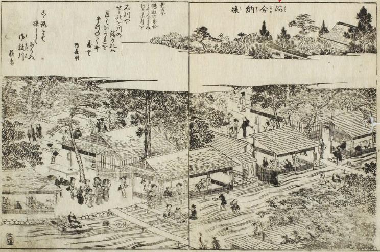 河合納涼(糺納涼)「都林泉名勝図会」
