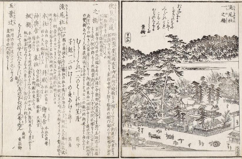 伏見街道一之橋「花洛名勝図絵」(1864年)