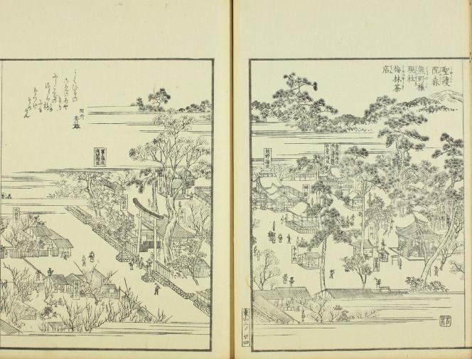 聖護院の森「再撰花洛名勝図会 -東山之部-」(1864年)