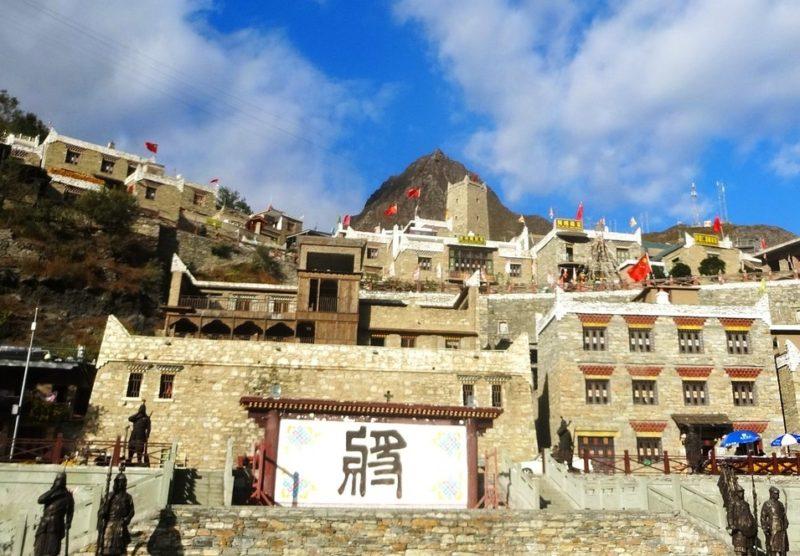 チベット寺院の照壁