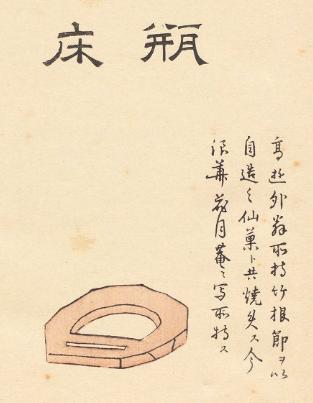 売茶翁茶器図「瓶床」