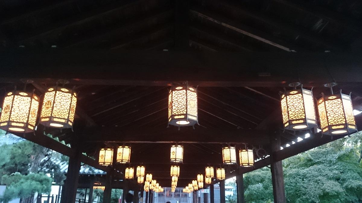 萬福寺の月見の煎茶会