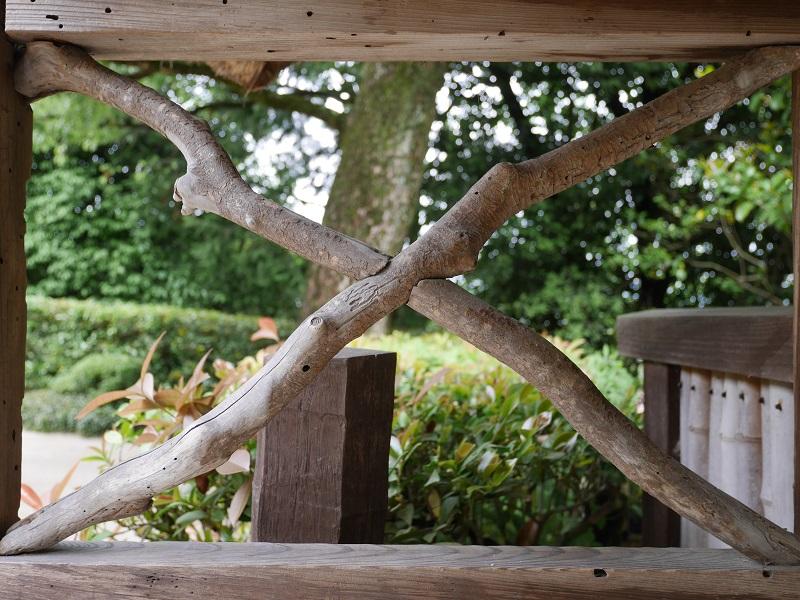 詩仙堂の木枠