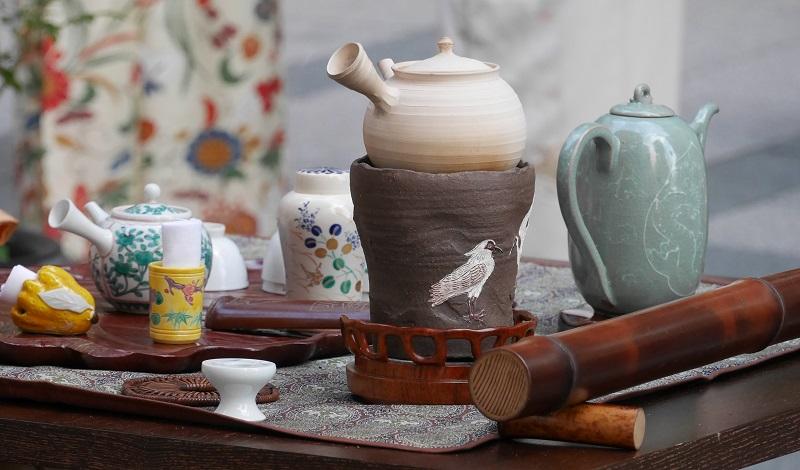 煎茶席の道具組@銀茶会2018
