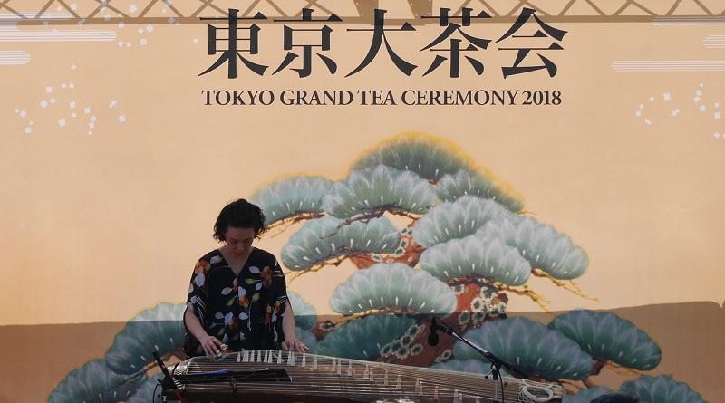 筝のパフォーマンス@東京大茶会2018
