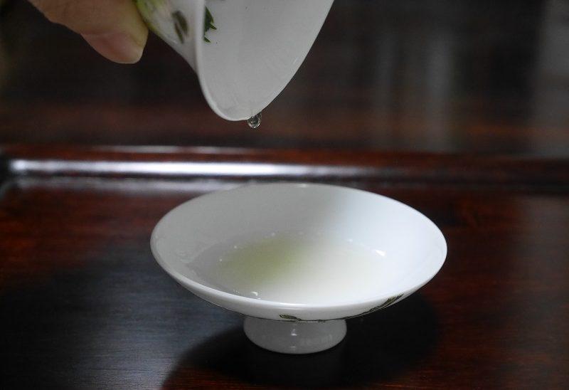 啜り茶の飲み方