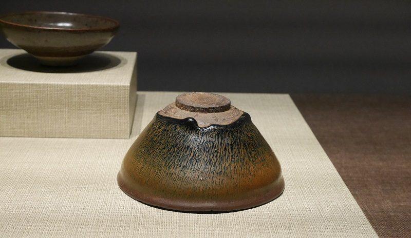 醤釉兎毫文茶盞(南宋時代・建窯)