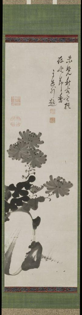 菊石図(伊藤若冲)