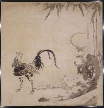 群鶏図(伊藤若冲)